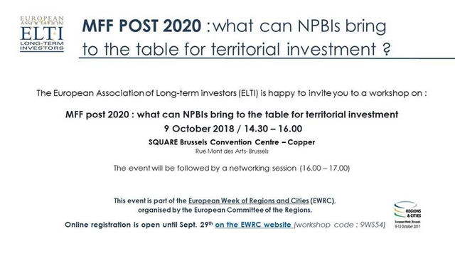 MFF Post 2020 What can NPBIs bring to the table for territorial investment